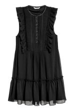 Chiffon A-line dress - Black - Ladies | H&M 2
