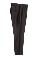 Lyocell-blend suit trousers - Black - Men | H&M CN 3