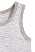Jersey romper suit - Grey/Fine stripe - Kids | H&M CN 2