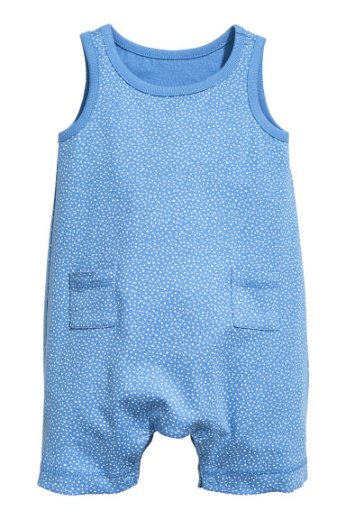 Jersey romper suit - Blue/Spotted - Kids | H&M 1