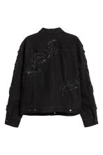 Embroidered denim jacket - Black - Men | H&M CN 3