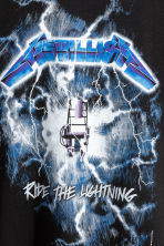 Printed T-shirt - Black/Metallica - Men | H&M 5