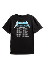 Printed T-shirt - Black/Metallica - Men | H&M 3