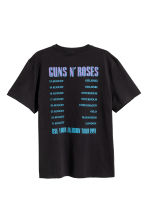 Printed T-shirt - Black/Guns N' Roses - Men | H&M 3