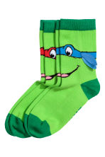 2-pack socks - Green/Turtles -  | H&M 1