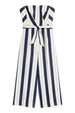 Strapless jumpsuit - White/Striped - Ladies | H&M CN 2
