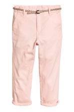 Cotton twill chinos - Light pink - Kids | H&M CN 2