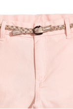 Cotton twill chinos - Light pink - Kids | H&M CN 3