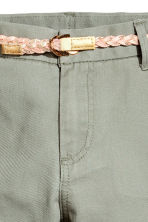 Cotton twill chinos - Khaki green - Kids | H&M CN 5