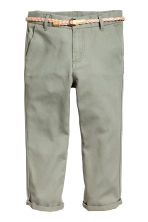 Cotton twill chinos - Khaki green - Kids | H&M CN 2
