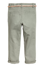 Cotton twill chinos - Khaki green - Kids | H&M CN 3