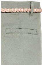 Cotton twill chinos - Khaki green - Kids | H&M 4