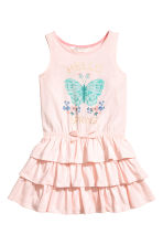 Jersey dress - Light pink/Butterfly - Kids | H&M 2