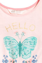 Jersey dress - Light pink/Butterfly - Kids | H&M 3