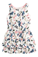 Jersey dress - White/Butterflies - Kids | H&M 2