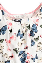 Jersey dress - White/Butterflies - Kids | H&M 3