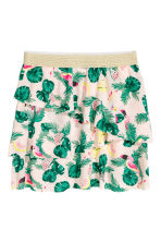 Top and skirt - Light yellow/Parrot - Kids | H&M CN 3