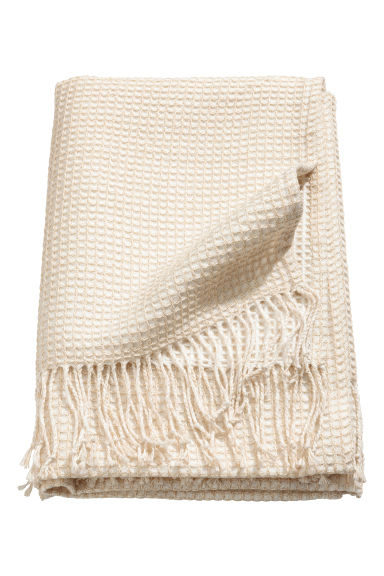 Glittery blanket - White/Gold - Home All | H&M CN 1