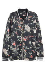 Satin jacket - Black/Floral - Ladies | H&M 2