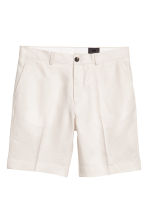 Linen city shorts - Light beige - Men | H&M 2