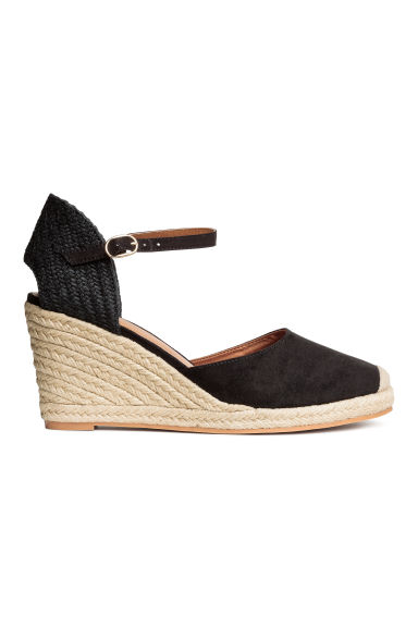 Wedge-heel shoes - Black - Ladies | H&M 1