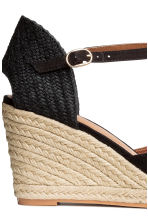 Wedge-heel shoes - Black - Ladies | H&M 4