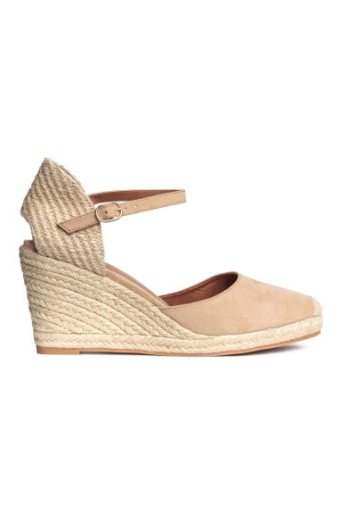 Wedge-heel shoes - Light beige - Ladies | H&M IE 1