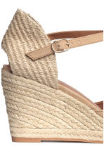 Wedge-heel shoes - Light beige - Ladies | H&M 4