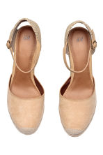 Wedge-heel shoes - Light beige - Ladies | H&M 2