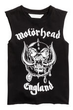 Printed vest top - Black/Motörhead - Kids | H&M CN 2