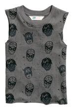Printed vest top - Dark grey/Marvel Comics -  | H&M 2