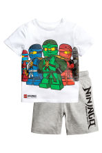 T-shirt and shorts - White/Lego - Kids | H&M 2