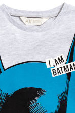 T-shirt and shorts - Light grey/Batman - Kids | H&M 4