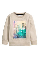 Sweat avec impression - Taupe clair/New York - ENFANT | H&M FR 2