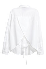 Cotton poplin blouse - White - Ladies | H&M 3