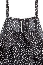 Frilled strappy top - Black/White/Patterned - Ladies | H&M CN 3