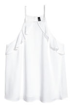 Frilled strappy top - White - Ladies | H&M CA 2