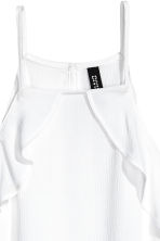 Frilled strappy top - White - Ladies | H&M CA 3