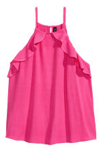 Frilled strappy top - Cerise - Ladies | H&M 2