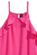 Frilled strappy top - Cerise - Ladies | H&M 3