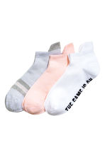 3-pack sports socks - Light pink - Ladies | H&M 1