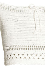 Crocheted top - White - Ladies | H&M 2