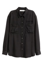Lyocell utility shirt - Black - Ladies | H&M CA 2