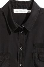 Lyocell utility shirt - Black - Ladies | H&M CA 3