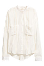 Cotton shirt - Natural white/Gold - Ladies | H&M CN 2
