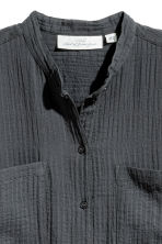 Cotton shirt - Dark grey - Ladies | H&M 3
