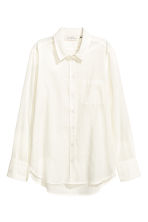 Cotton shirt - White/Striped -  | H&M CN 2