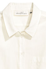 Cotton shirt - White/Striped -  | H&M CN 3