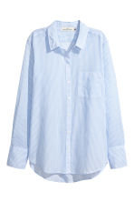 Cotton shirt - Light blue/Striped - Ladies | H&M CN 2