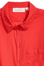 Cotton shirt - Red/Striped - Ladies | H&M 3